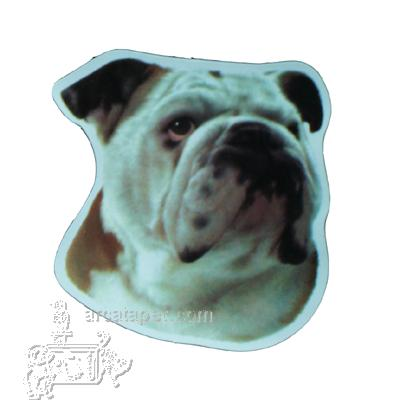 Vinyl Dog Magnet with Bulldog Small
