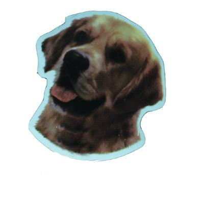 Vinyl Dog Magnet with Golden Retriever Small