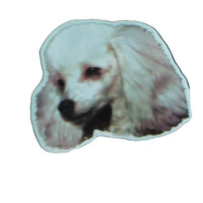 Vinyl Dog Magnet with Poodle Small