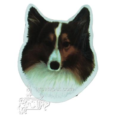 Vinyl Dog Magnet with Shetland Sheepdog Small