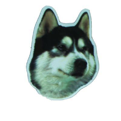 Vinyl Dog Magnet with Siberian Husky Small