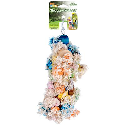 Penn Plax Shaggy Kabob Large Bird Toy