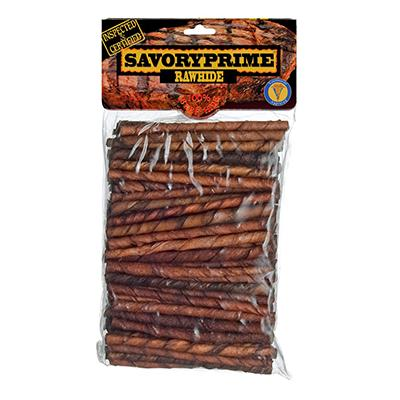 Rawhide Twist Basted 100 Pack Dog Chew