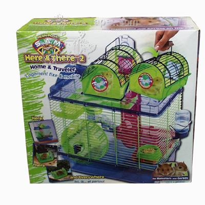 SAM Here There & Everywhere Hamster Home/Traveler Cage 2