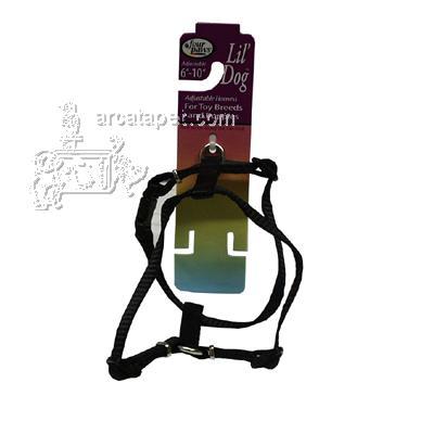 Lil' Dog Black Adjustable Harness for Toy Breeds