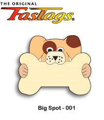 FasTags Do-it-yourself Pet ID Tag Big Spot Pattern