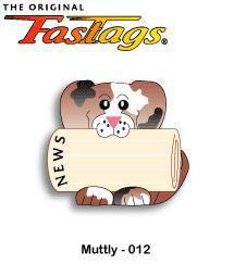 FasTags Do-it-yourself Pet ID Tag Muttly Pattern