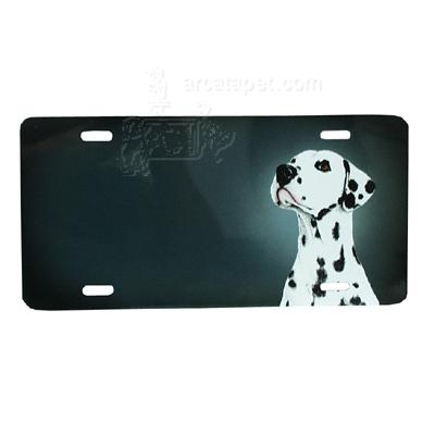 Aluminum Dog Breed License Plate with Dalmatian