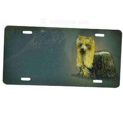 Aluminum Dog Breed License Plate with Yorkie