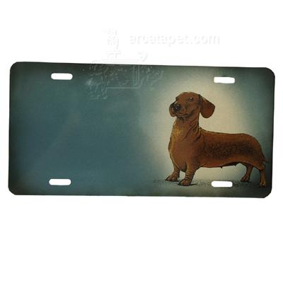 Aluminum Dog Breed License Plate with Dachshund