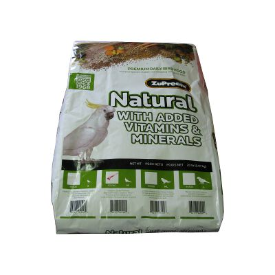 Zupreem Natural Blend Cockatiel Food 20 pound