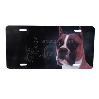 Aluminum Dog Breed License Plate with Boxer