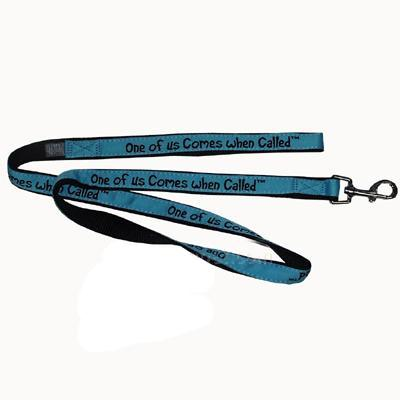 Embroidered Dog Leash 4-ft x3/4 One of us Comes When Called