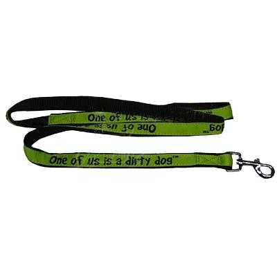 Embroidered Dog Leash 4-ft x3/4-in One of us is a Dirty Dog