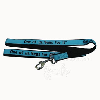 Embroidered Dog Leash 4-ft x1-in One of us Begs for It