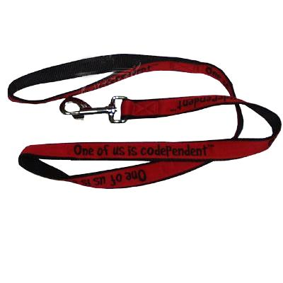 Embroidered Dog Leash 4-ft x1-in One of us is Codependent