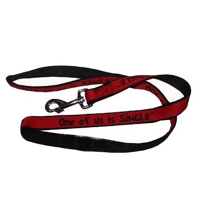 Embroidered Dog Leash 4-ft x1-in One of us is Single