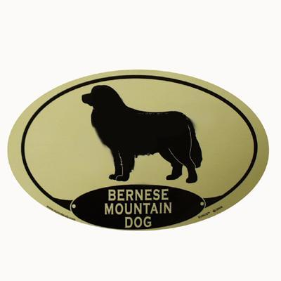 Euro Style Oval Dog Decal Bernese Mountain Dog