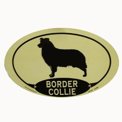 Euro Style Oval Dog Decal Border Collie