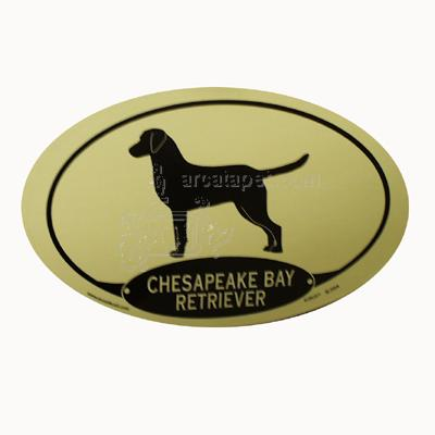 Euro Style Oval Dog Decal Chesapeake Bay Retriever