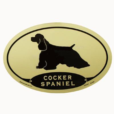 Euro Style Oval Dog Decal Cocker Spaniel