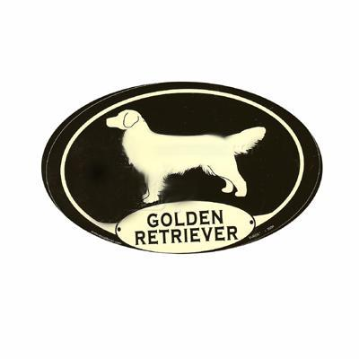 Euro Style Oval Dog Decal Golden Retriever