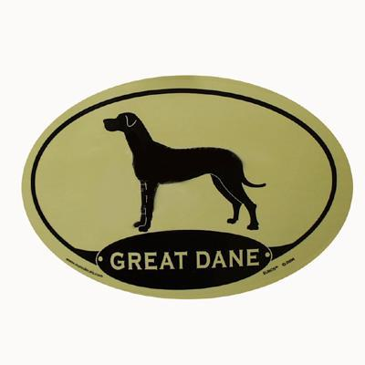 Euro Style Oval Dog Decal Great Dane