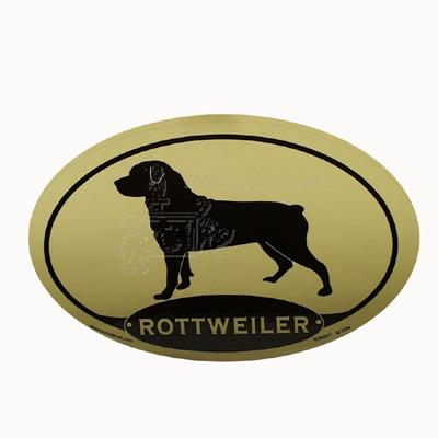 Euro Style Oval Dog Decal Rottweiler
