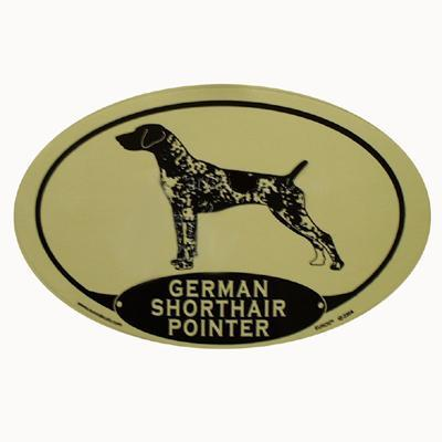 Euro Style Oval Dog Decal German Shorthair Pointer