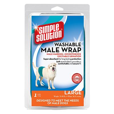 Simple Solution Male Dog Diaper Garment Wrap Large