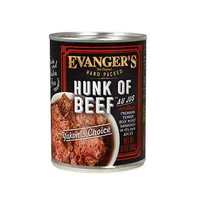Evanger's Hunk Of Beef Canned Dog Food 13 oz