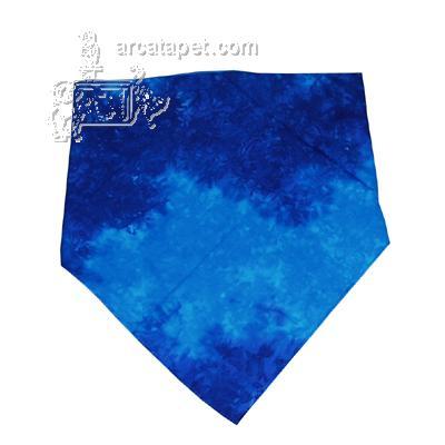 Dog Bandana Handmade Tie-Dye Blue