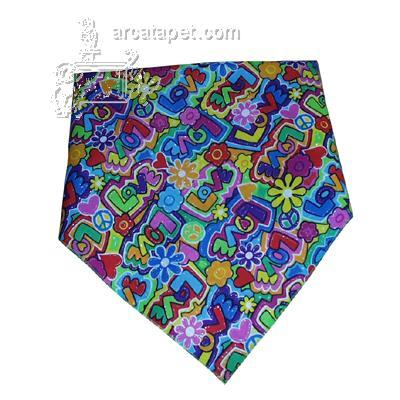 Dog Bandana Retro Love