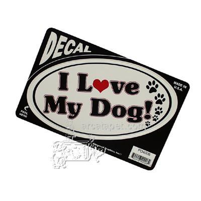 6-inch Oval I Love My Dog! Decal