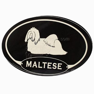 Euro Style Oval Dog Decal Maltese