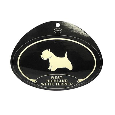 Euro Style Oval Dog Decal West Highland White Terrier