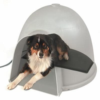 K & H Igloo Style Heated Dog Pad Large
