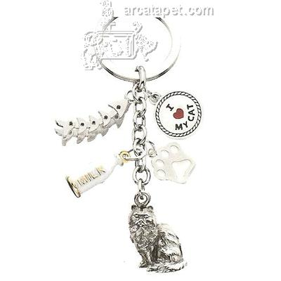 Key Charms Long Fur Cat