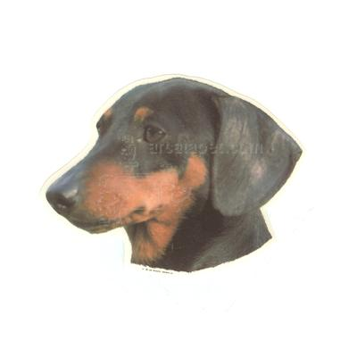 Double Sided Dog Decal Dachshund