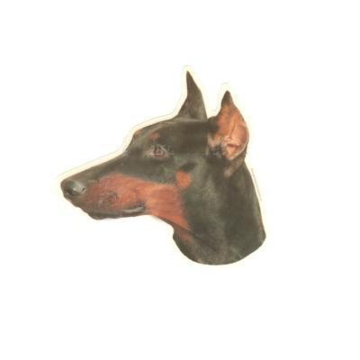 Double Sided Dog Decal Doberman