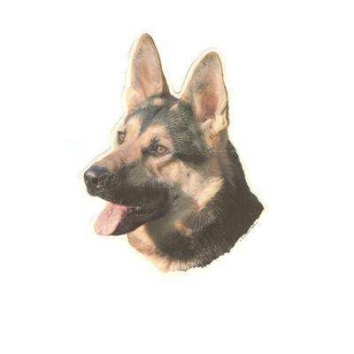 Double Sided Dog Decal German Shepherd