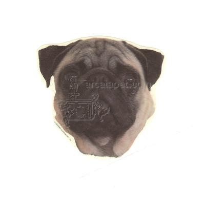 Double Sided Dog Decal Pug