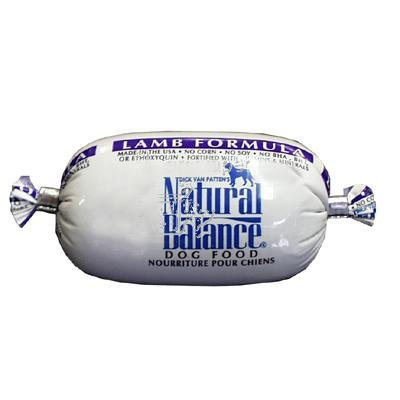 Natural Balance Lamb and Rice Dog Food Roll 2.7 oz