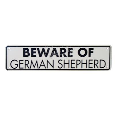 Sign Beware of German Shepherd 12 x 3 inches Aluminum