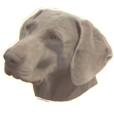 Double Sided Dog Decal Weimaraner
