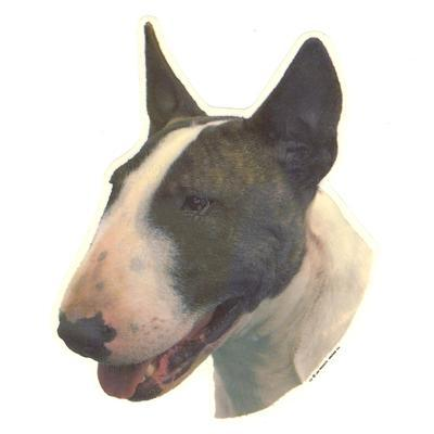 Double Sided Dog Decal Bull Terrier