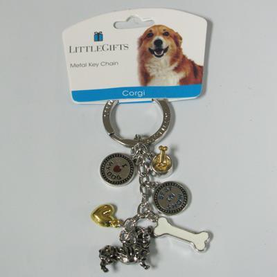 Key Chain Corgi with 5 Charms