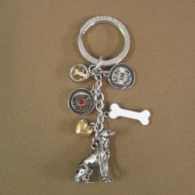 Key Chain Greyhound with 5 Charms