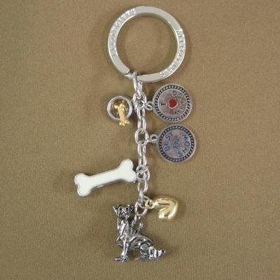 Key Chain Jack Russel Terrier with 5 Charms