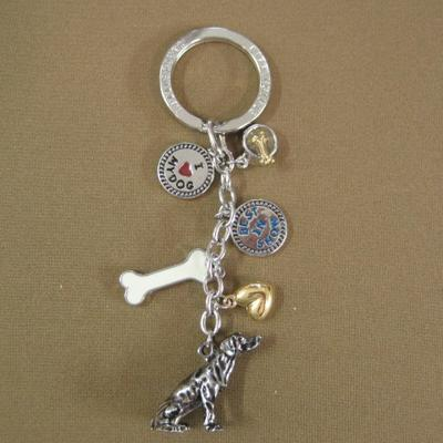 Key Chain Weimaraner with 5 Charms